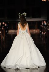 Straight Neckline Sleeveless Ball Gown Wedding Dress by Reem Acra - Image 2