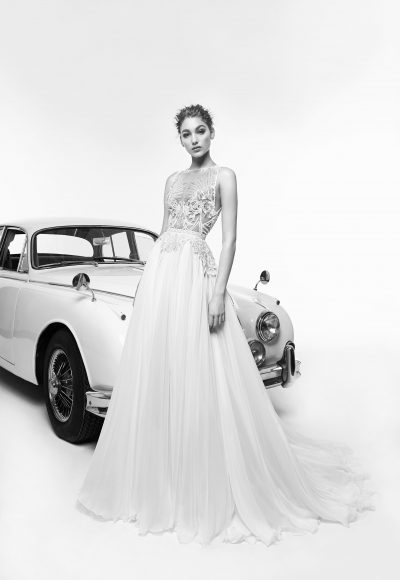 Sleeveless Beaded Bodice A-line Wedding Dress by Zuhair Murad
