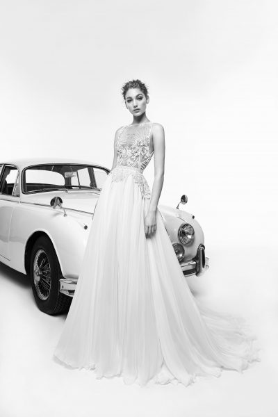 Sleeveless Beaded Bodice A-line Wedding Dress by Zuhair Murad - Image 1