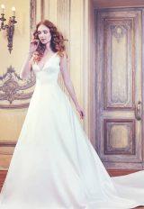 Sleeveless V-neck Shantung Ball Gown Wedding Dress by Sareh Nouri - Image 1
