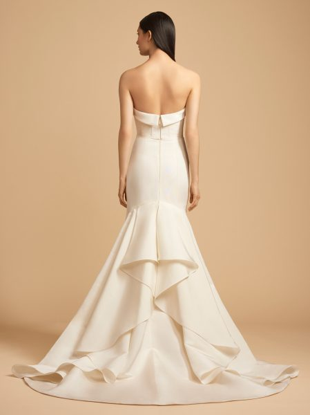 Sweetheart Neck Strapless Natural Waist Fit And Flare Wedding Dress by Allison Webb - Image 2
