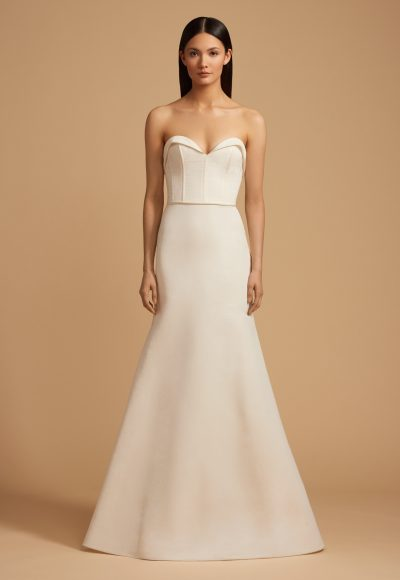 Sweetheart Neck Strapless Natural Waist Fit And Flare Wedding Dress by Allison Webb