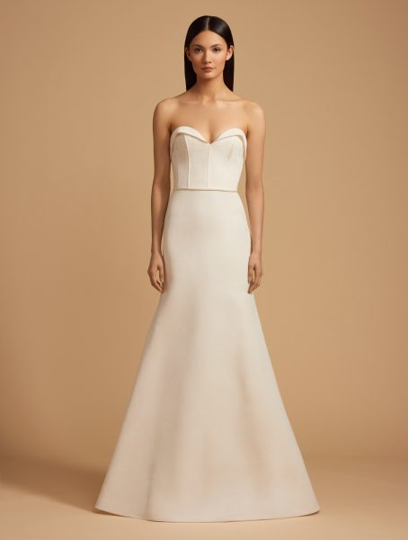 Sweetheart Neck Strapless Natural Waist Fit And Flare Wedding Dress by Allison Webb - Image 1