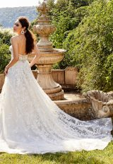 Sheer Beaded Bodice Strapless Ball Gown Wedding Dress by Eve of Milady - Image 2