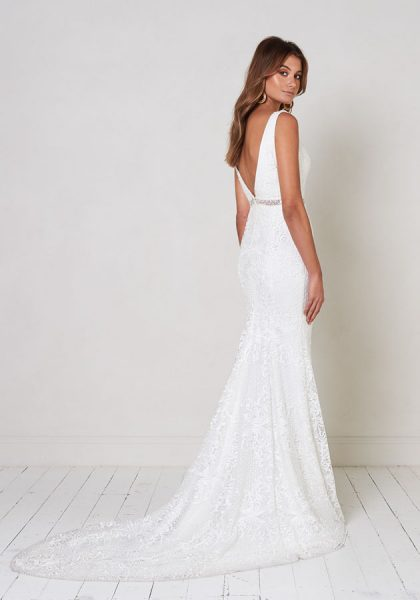 A-line Lace Wedding Dress With Glitter Belt. by Jane Hill - Image 2
