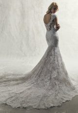 Fully Lace Cap Sleeve V-neck Fit And Flare Wedding Dress by Maggie Sottero - Image 2