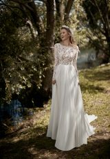 Long Sleeve A-line Wedding Dress by Maison Signore - Image 1