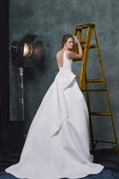 Simple Sleeveless Scoop Neck Ballgown Wedding Dress by Sareh Nouri - Image 2
