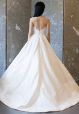 Strapless Lace Bodice Ball Gown Wedding Dress by Romona Keveza Collection - Image 2