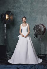 Simple Sleeveless Scoop Neck Ballgown Wedding Dress by Sareh Nouri - Image 1
