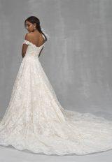 Off The Shoulder Floral Applique A-line Wedding Dress by Allure Bridals - Image 2