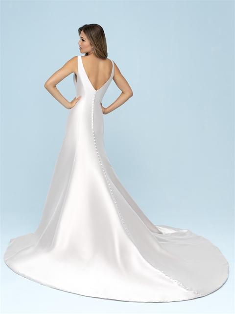 f87f8a5f8e03c Simple Mikado V-neck A-line Wedding Dress | Kleinfeld Bridal