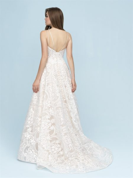 V-neck Lace A-line Wedding Dress by Allure Bridals - Image 2