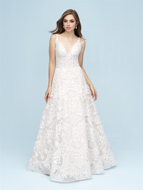V Neck Lace A Line Wedding Dress Kleinfeld Bridal