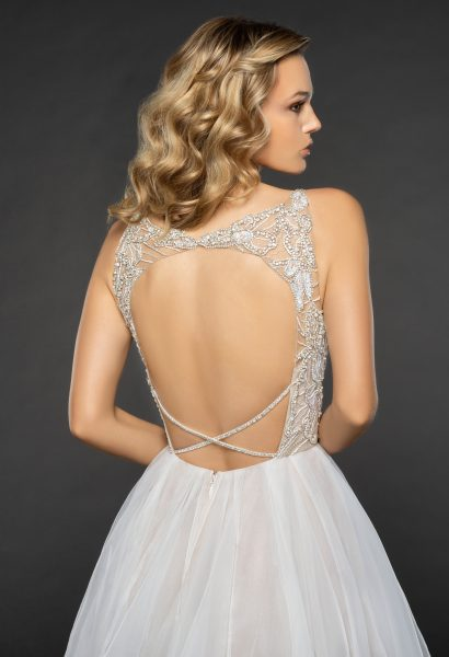 Embellished Beaded Bodice Keyhole Back A-line Wedding Dress by Hayley Paige - Image 2