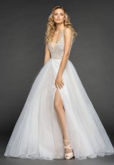 Embellished Beaded Bodice Keyhole Back A-line Wedding Dress by Hayley Paige - Image 1