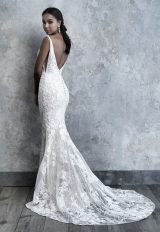 Sleeveless Lace Fit And Flare Wedding Dress by Madison James - Image 2