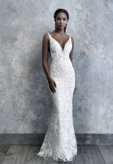 Sleeveless Lace Fit And Flare Wedding Dress by Madison James - Image 1
