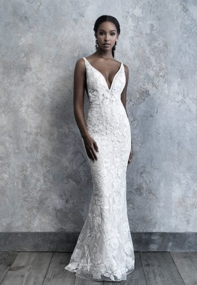 Sleeveless Lace Fit And Flare Wedding Dress by Madison James