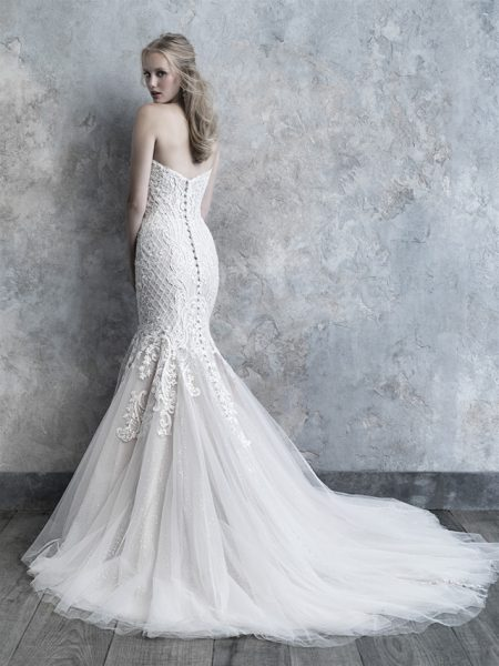 Strapless Sweetheart Neckline Lace And Tulle Wedding Dress by Madison James - Image 2