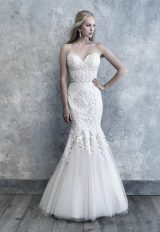 Strapless Sweetheart Neckline Lace And Tulle Wedding Dress by Madison James - Image 1