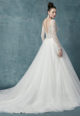 Long Sleeve Lace Tulle Ball Gown Wedding Dress by Maggie Sottero - Image 2