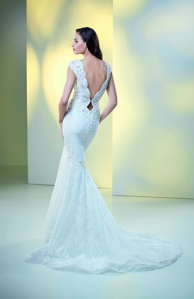 Fit And Flare Lace Wedding Dress by Maison Signore - Image 2