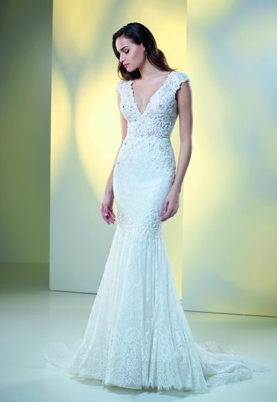 Fit And Flare Lace Wedding Dress by Maison Signore