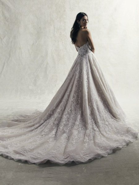 Strapless Sweetheart Lace Ball Gown Wedding Dress by Sottero and Midgley - Image 2