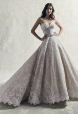 Strapless Sweetheart Lace Ball Gown Wedding Dress by Sottero and Midgley - Image 1