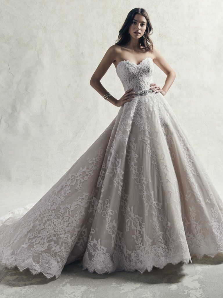 Strapless Sweetheart Lace Ball Gown Wedding Dress Kleinfeld Bridal