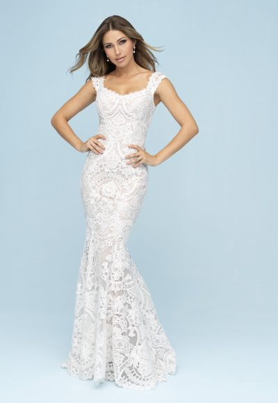 Lace Sheath Wedding Dress by Allure Bridals