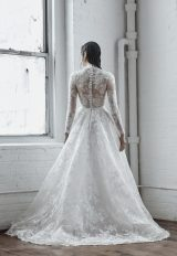 Illusion Long Sleeve Ball Gown Wedding Dress With High Neck by Isabelle Armstrong - Image 2