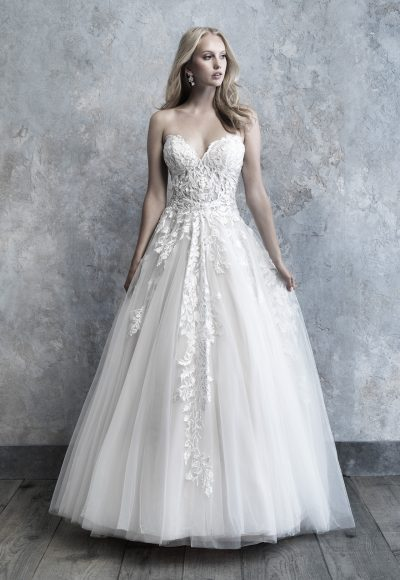 Strapless Tulle Ball Gown by Madison James