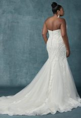 Cap Sleeve Fit And Flare Beaded Lace Gown by Maggie Sottero - Image 2