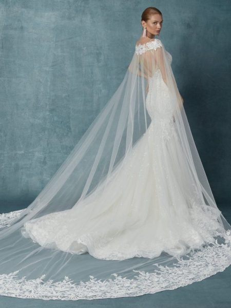 Fit And Flare Beaded Floral Wedding Dress by Maggie Sottero - Image 2