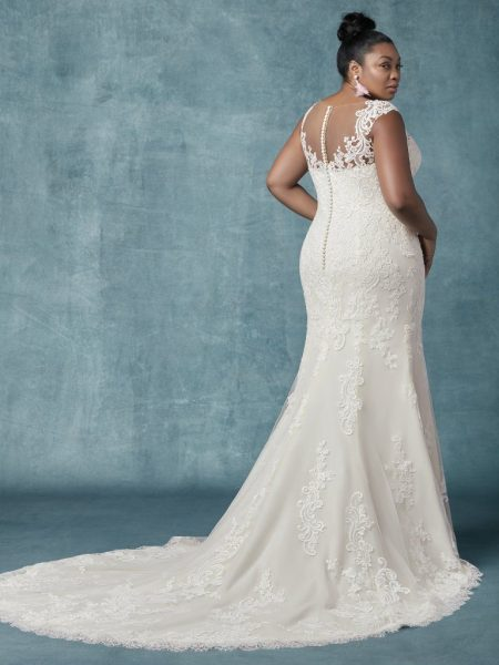 Fit And Flare Lace Sweetheart Neckline Wedding Dress by Maggie Sottero - Image 2