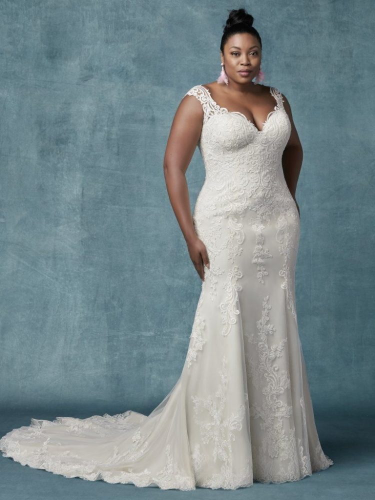 Fit And Flare Lace Sweetheart Neckline Wedding Dress by Maggie Sottero - Image 1