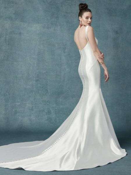 Simple Mikado Fit-and-flare Sweetheart Neckline. by Maggie Sottero - Image 2