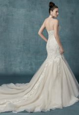 Spaghetti Strap Beaded Lace Bodice Fit And Flare Wedding Dress by Maggie Sottero - Image 2