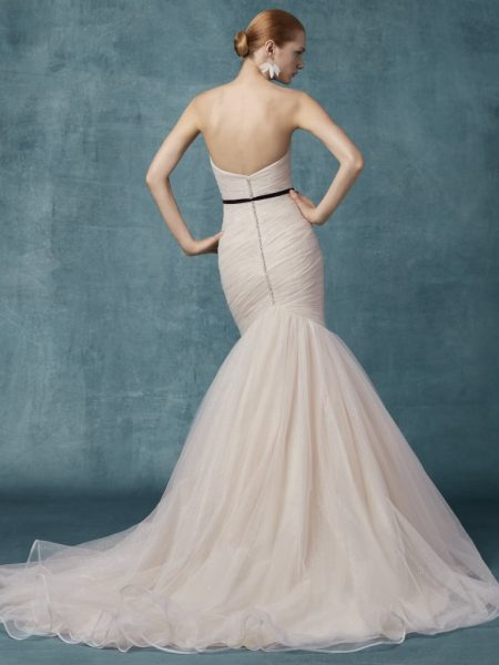 Sweetheart Neckline Ruched Bodice Fit And Flare Wedding Dress by Maggie Sottero - Image 2