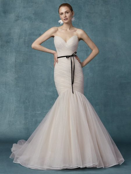 Sweetheart Neckline Ruched Bodice Fit And Flare Wedding Dress by Maggie Sottero - Image 1
