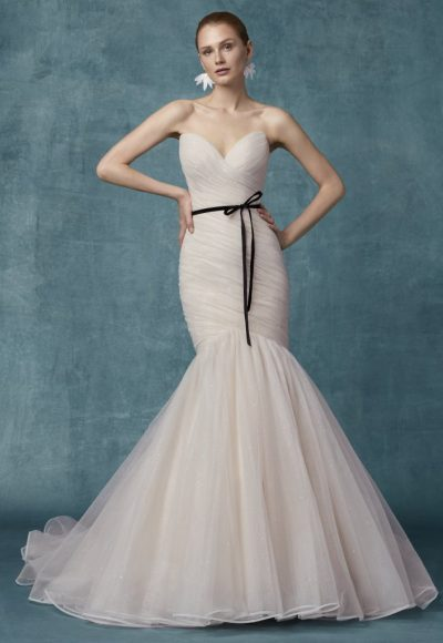 Sweetheart Neckline Ruched Bodice Fit And Flare Wedding Dress by Maggie Sottero