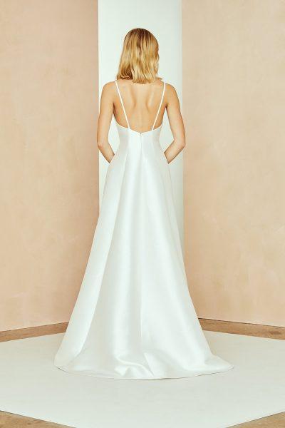 Silk Mikado Hi-low A-line Wedding Dress With V-neckline by Nouvelle Amsale - Image 2