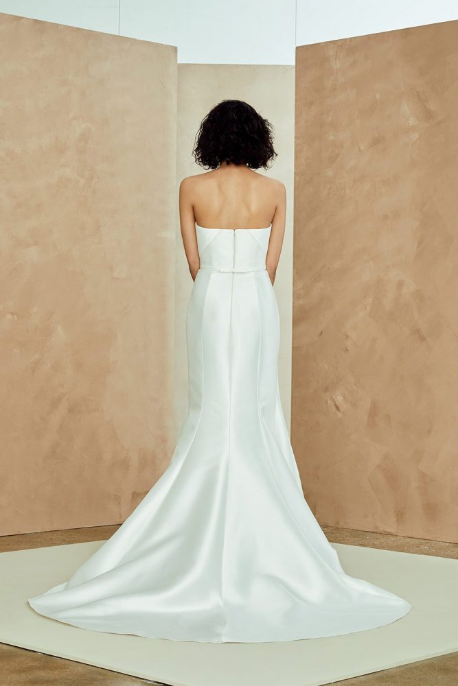 Silk Mikado Strapless Fit And Flare Wedding Dress by Nouvelle Amsale - Image 2