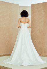 Strapless Taffeta A-line Wedding Dress With Lace Belt by Nouvelle Amsale - Image 2