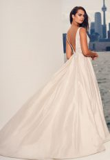 Sleeveless V-neck Silk Ball Gown Wedding Dress by Paloma Blanca - Image 2