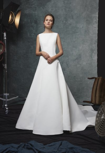 06bc314209ab Style #113140XS · A-line Silk Bateau Neckline Wedding Dress by Sareh Nouri