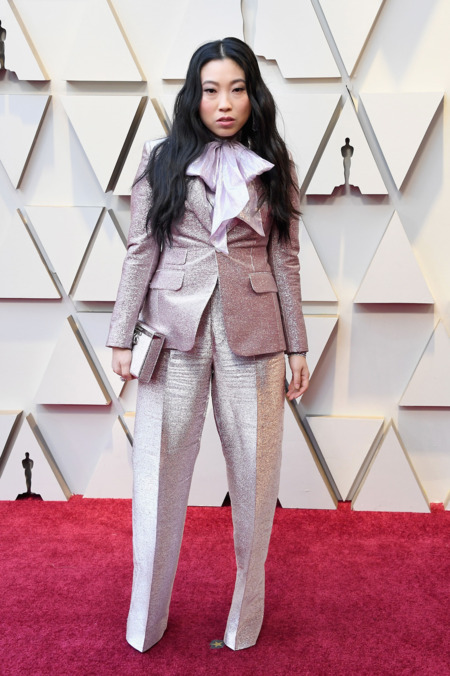 Awkwafina in Dsquared2 and Chopard jewelry. Photo- Steve Granitz:WireImage