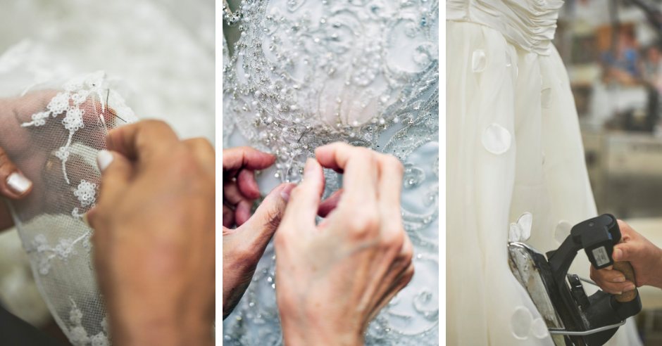 You Won't Believe How Many Hours Goes into Altering a Wedding Dress
